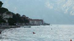 Montenegro Bay at dawn Stock Footage