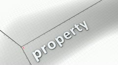 Concept animation, growing chart - Property. Stock Footage