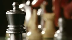 Chess, rook  pawn Stock Footage