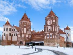 Belorussia, fortress, battlement, tower Stock Photos