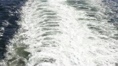 Cruiseship wake 004 Stock Footage