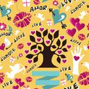 Valentines love pattern Stock Illustration