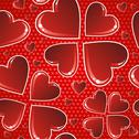 Valentine red glossy heart pattern Stock Illustration