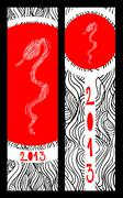 Chinese new year of the snake banners Stock Illustration