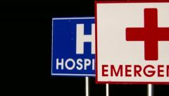 Information, Emergency, Hospital, Happy End Stock Footage