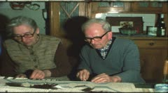 Vintage 8 mm film: Grandparents, Germany, 1970s Stock Footage