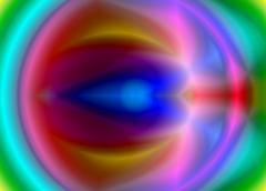 bright multi-coloured background - stock illustration