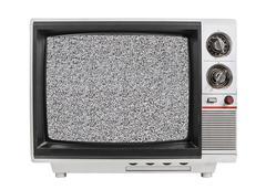 Staattinen screen vanha tv eristetty Kuvituskuvat