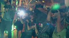 photographers work in restaurant Sixty during Lena Leninas party - stock footage