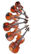different sized fiddles - stock photo
