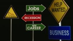 Business, Jobs, Recession, Signs - stock footage
