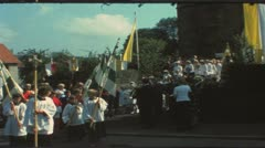 Vintage 8 mm film: First Communion, Germany, 1970s Stock Footage