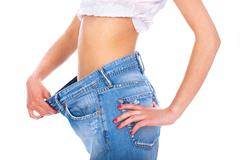 Losted kilograms Stock Photos