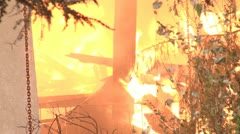 Raging fire - stock footage