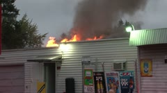 Commercial structure fire Stock Footage
