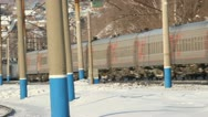 Russian Railways. Locomotives, wagons. Stock Footage
