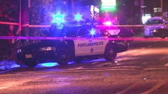 Police car with tape - stock footage