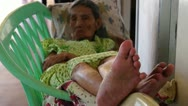 Old woman's feet Stock Footage
