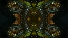 Kaleidoscope tunnel channel X pattern,sci-fi fantasy style. Stock Footage