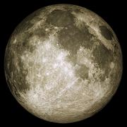 Full moon with surface details Stock Photos