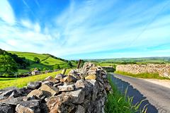 Yorskshire dales on a beautiful suny day Stock Photos