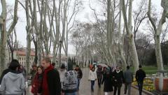 Crowds Park Istanbul  Stock Footage