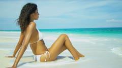 Beautiful Latin American Girl Fulfilling Dreams Stock Footage