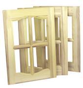 Three unpainted furniture doors Stock Photos