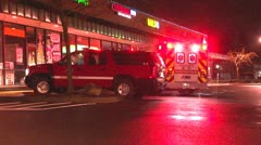 Fire commend SUV and ambulance Stock Footage