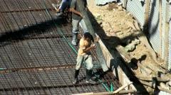 Pouring Concrete, Construction Sites Stock Footage