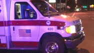 Stock Video Footage of ambulance driving off