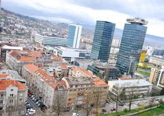 Sarajevo city Stock Photos