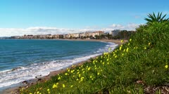 Sea shore Southern Spain Stock Footage