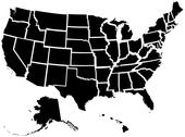 Stock Illustration of United States 50 States Map