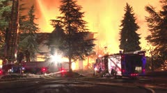 Structure fire Stock Footage
