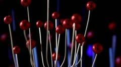 Red metal tree Stock Footage