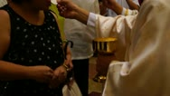Stock Video Footage of Holy communion