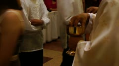 Holy communion - stock footage