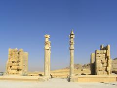Gate in Persepolis, Iran Stock Photos