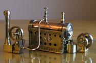 Model steam engine Stock Photos