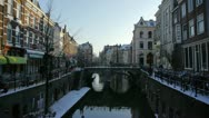 Stock Video Footage of Dutch canal in winter