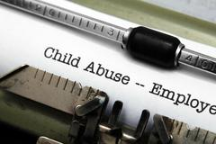 Child abuse form Stock Photos