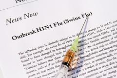 Swine flu news Stock Photos