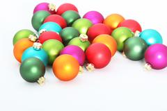 Scattered christmas ornaments Stock Photos
