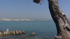 FRANCE Antibes at Riviera coast, Mediterranean  Stock Footage