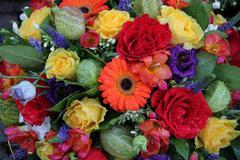 Mixed flower arrangement Stock Photos