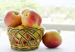 Stock Photo of apples with basket