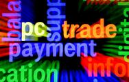 Pc trade payment Stock Illustration