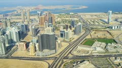 Aerial view of Media City Dubai Stock Footage