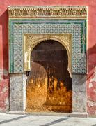 old door in moorish style in cordoba, spain - stock photo